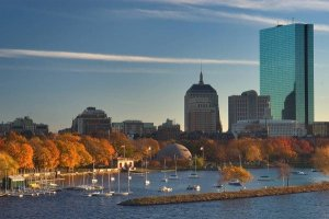 The Boston Skyline from the Charles Riverboat sightseeing cruise
