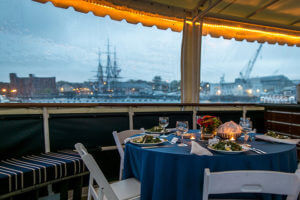 dining table on ship