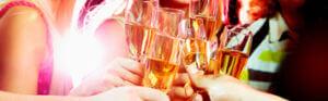 toasting drinks