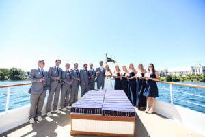 wedding party on the valiant