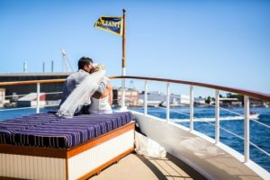 bride and groom on valiant