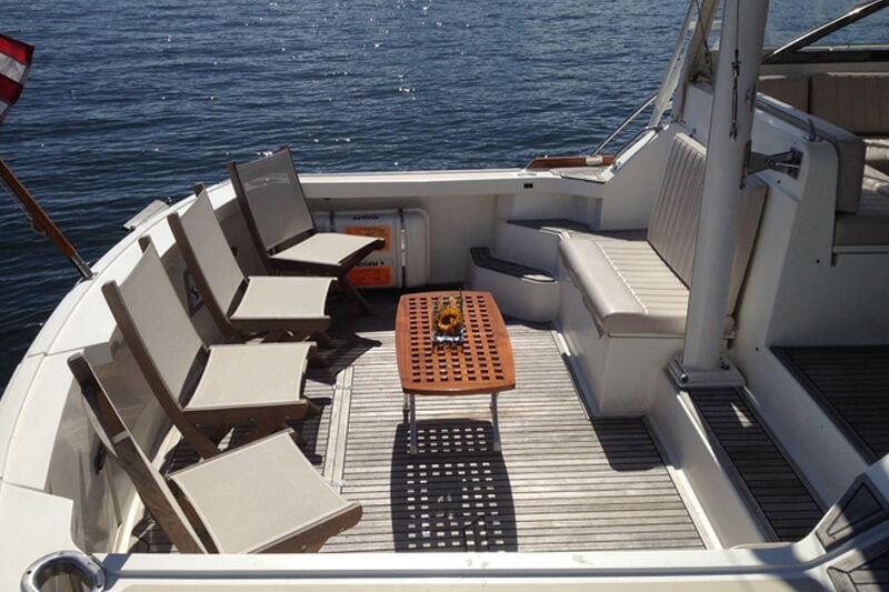 sitting area on a charles riverboat vessel