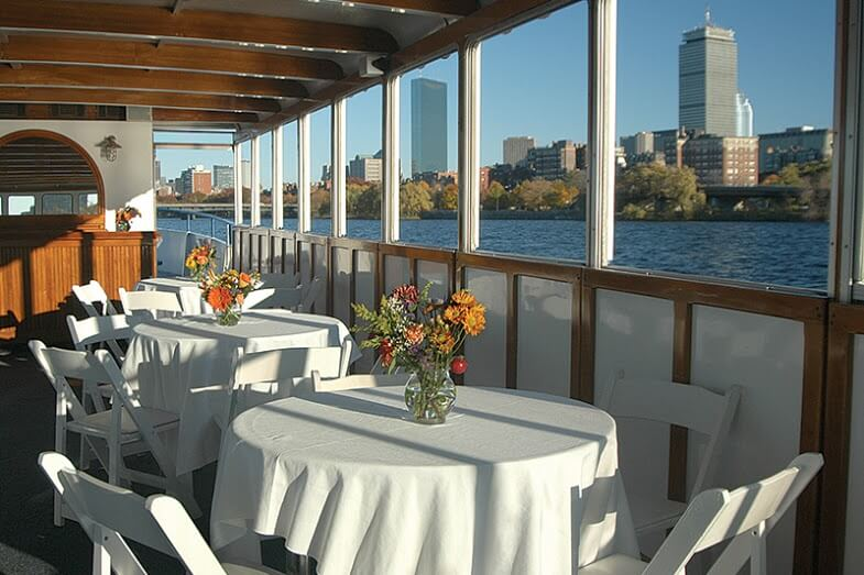 view of boston from charles riverboat company vessel