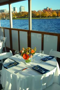 table set on board boat