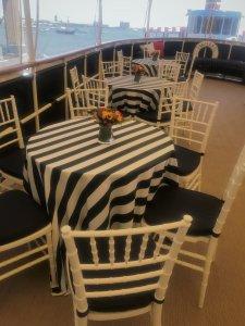 tables on board vessel
