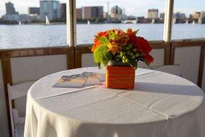 floral arrangement on a table