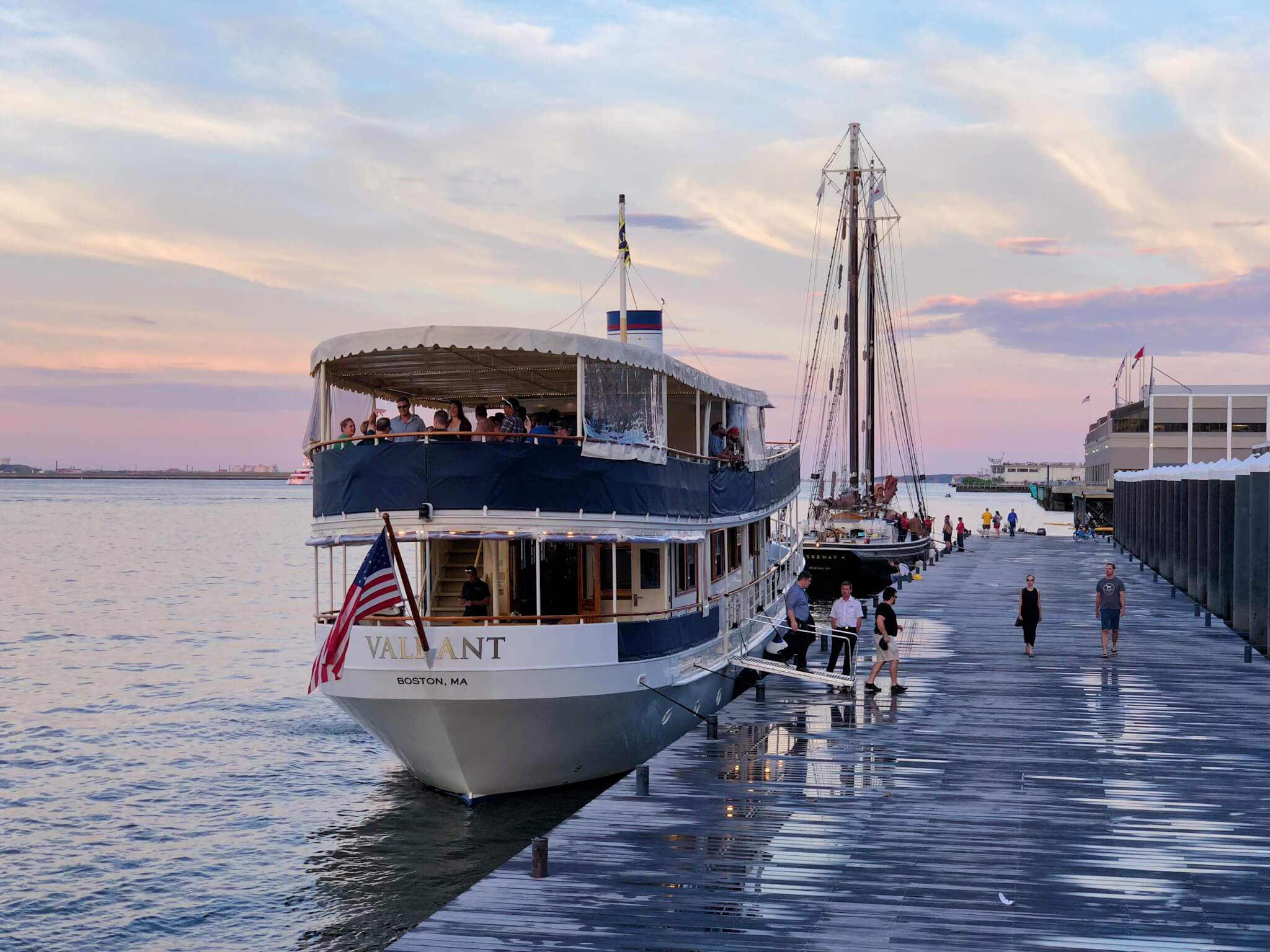 An event on the Valiant vessel from the Charles Riverboat company