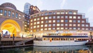 charles riverboat vessel docked in seaport boston