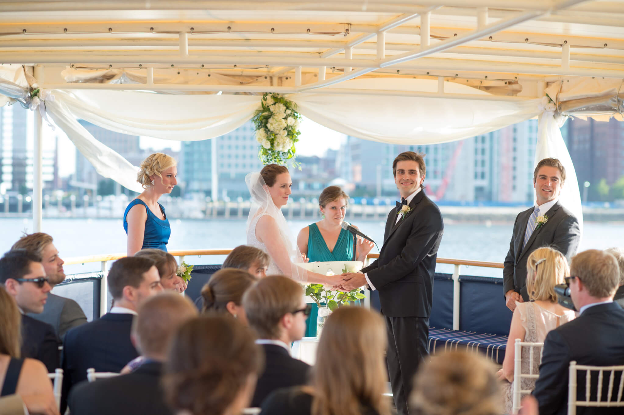 wedding ceremony on ship