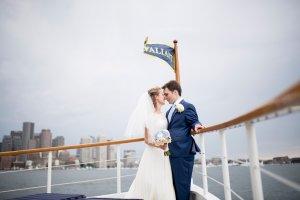 bride and groom on the valiant