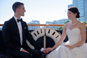 bride and groom on the valiant