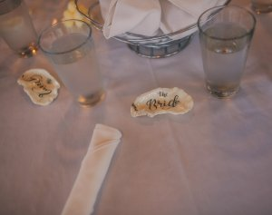 bride & groom sea shell placeholders