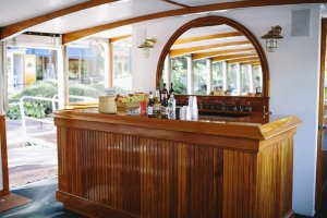 bar on board a charles riverboat company vessel