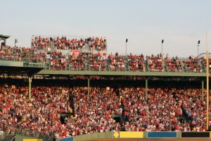 A Red Sox game at Fenway Park