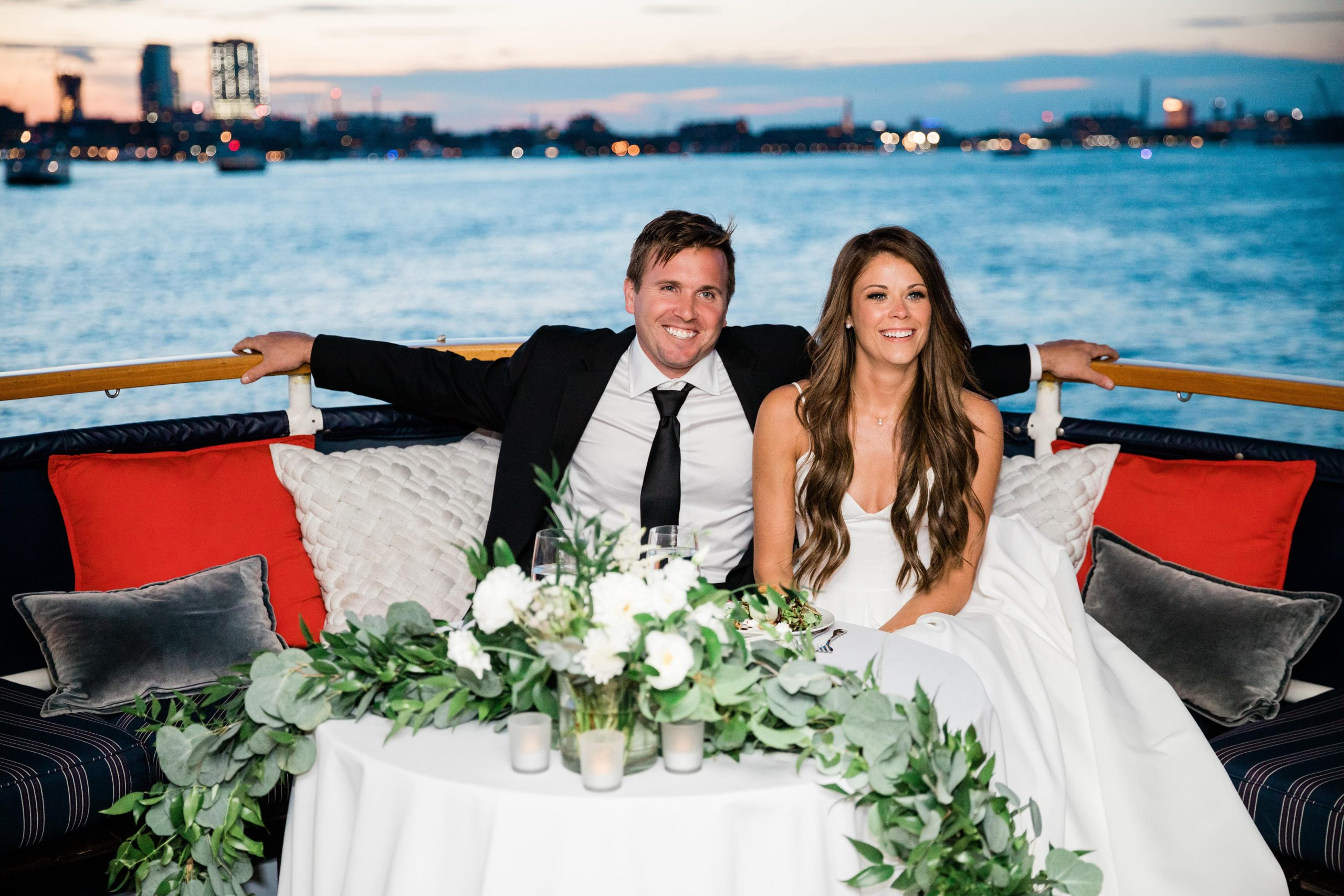 couple married on the charles river in boston