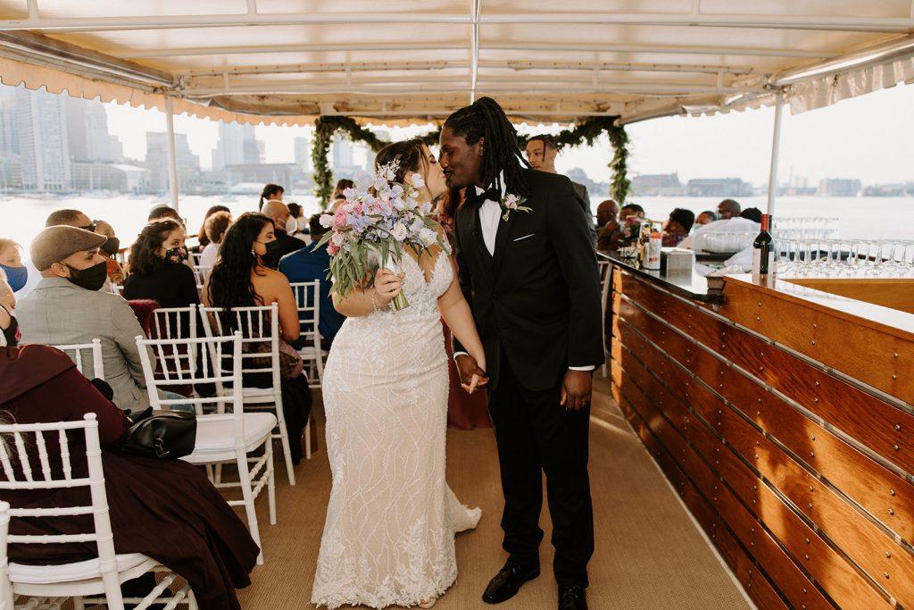 boat cruise wedding